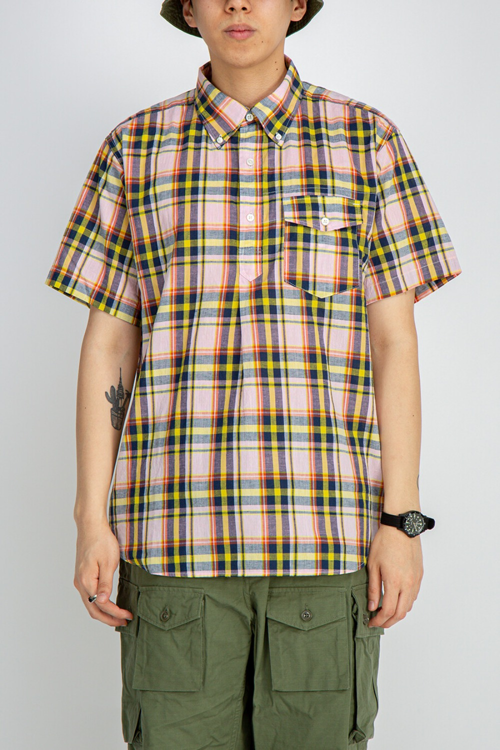 POPOVER BD SHIRT CL MADRAS PLAID PINK YELLOW