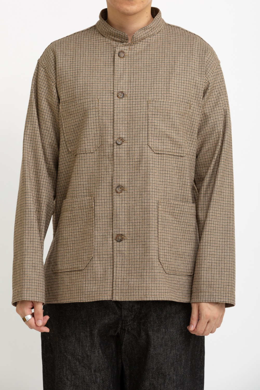DAYTON SHIRT BROWN WOOL POLY GUNCLUB