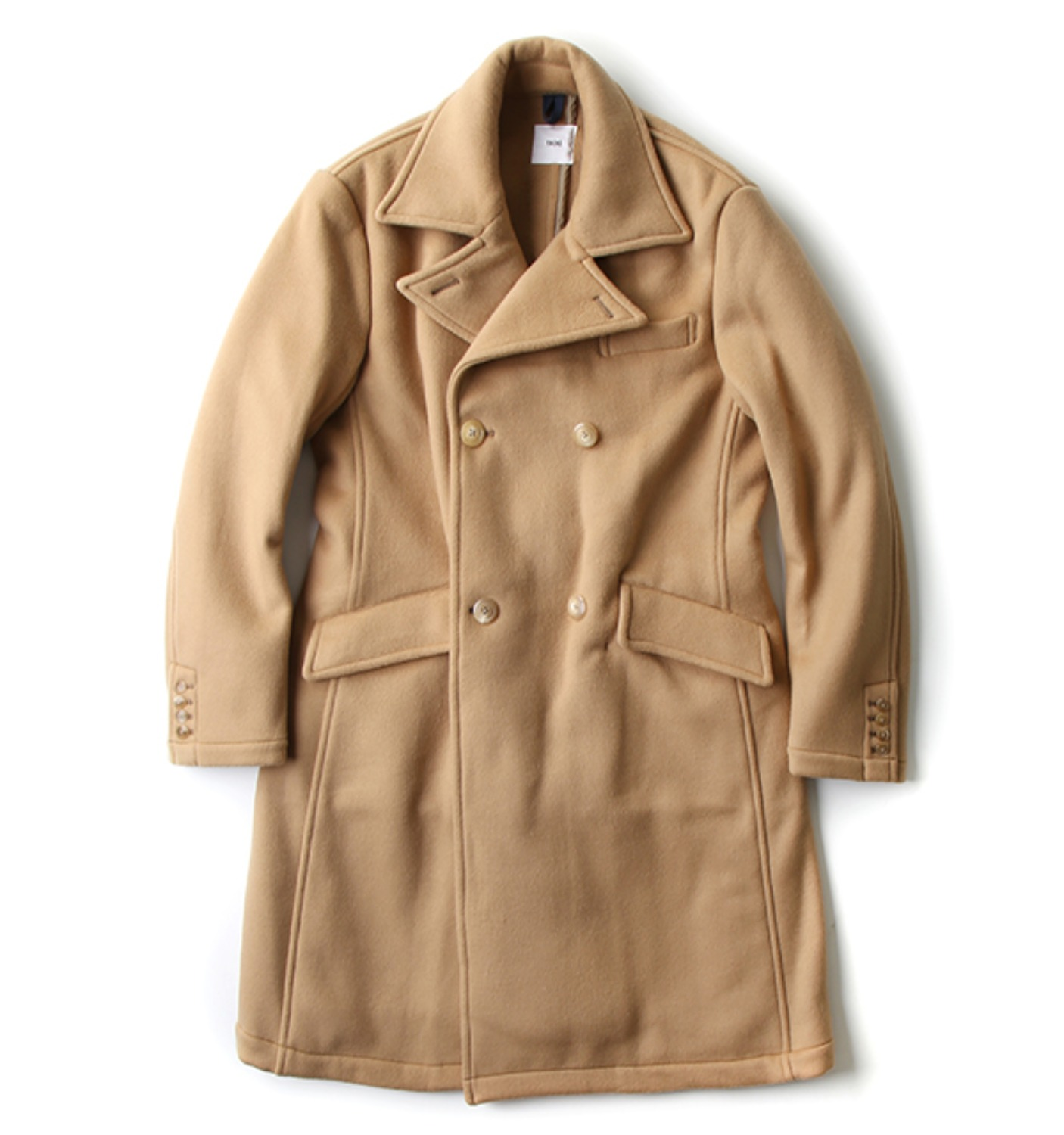 DOUBLE BREASTED COAT CAMEL (FT35NC03)