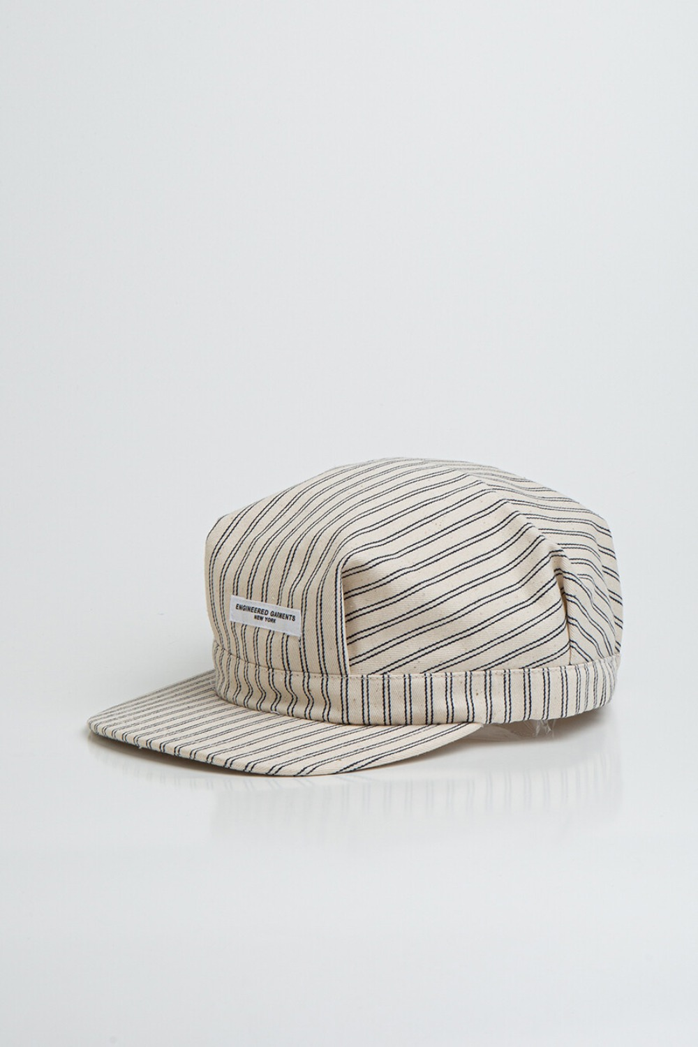 RAILROAD CAP NATURAL NAVY UNIFORM STRIPE