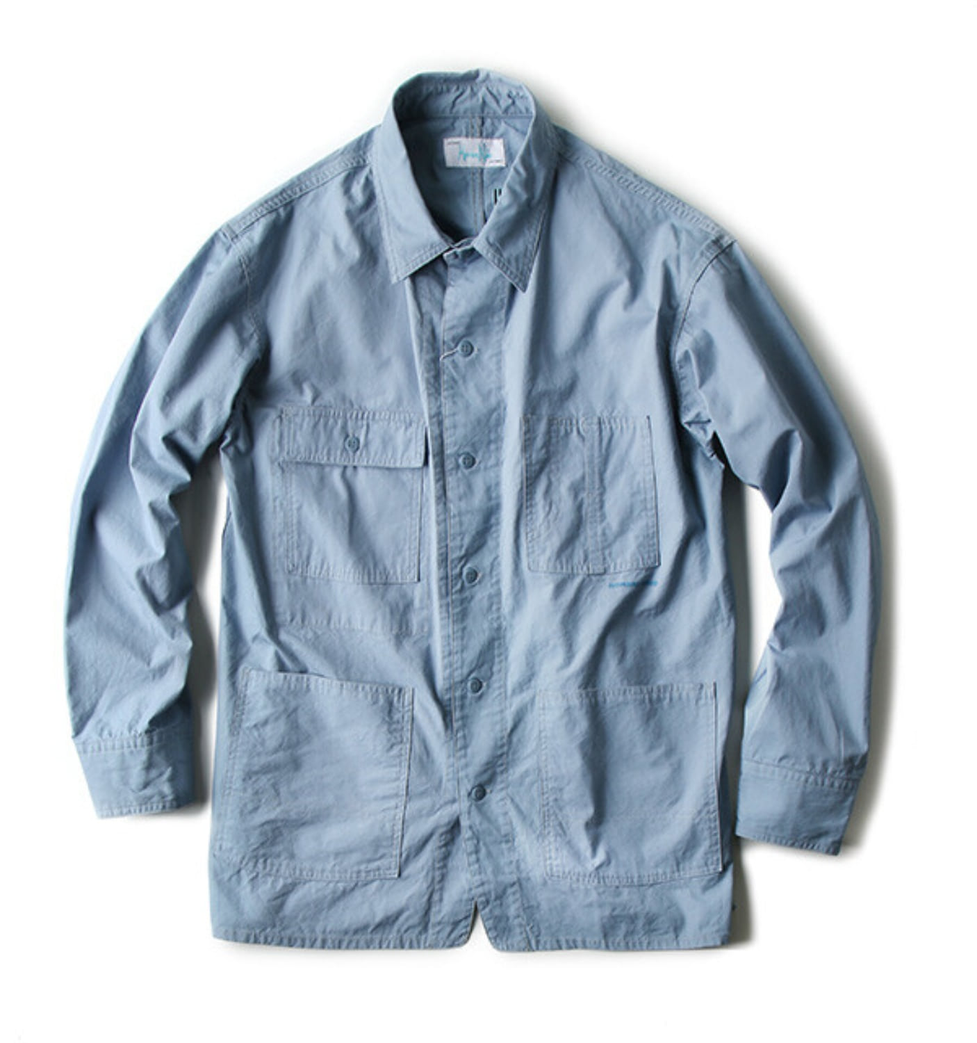 CANVAS COVERALL SHIRT BLUE