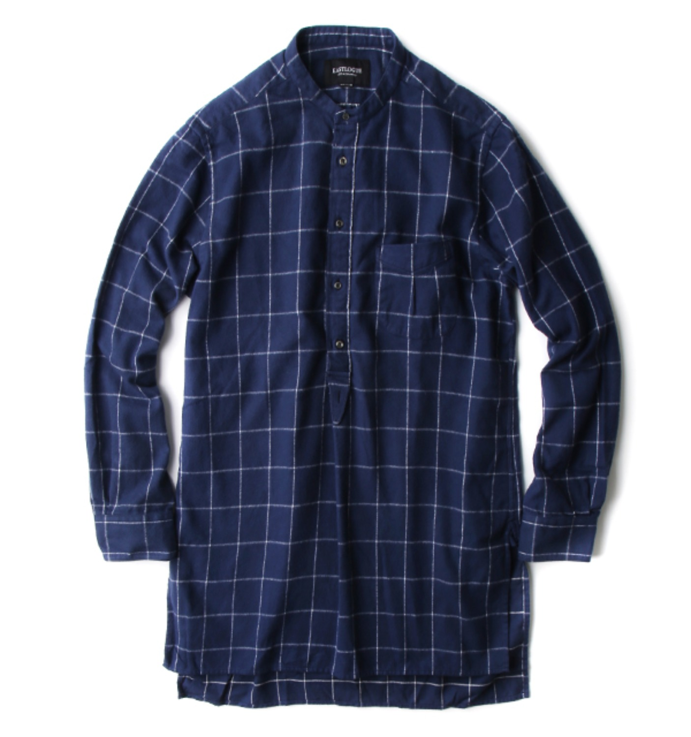 TUNIC SHIRT NAVY FLANNEL(1217FWSH06)