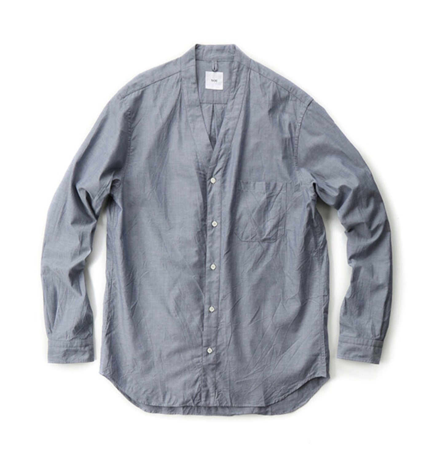 CARDIGAN SHIRT COTTON OXFORD NAVY