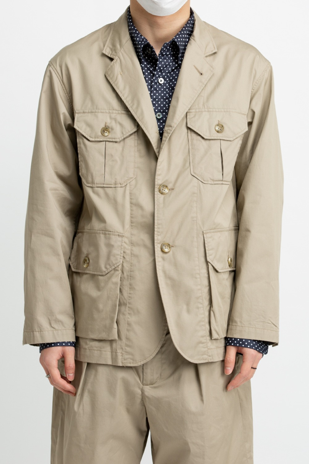 FOLK JACKET HIGH COUNT TWILL KHAKI