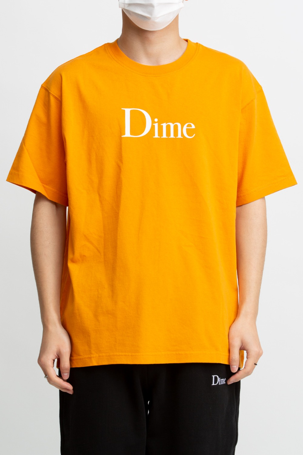 DIME CLASSIC LOGO T-SHIRT ORANGE