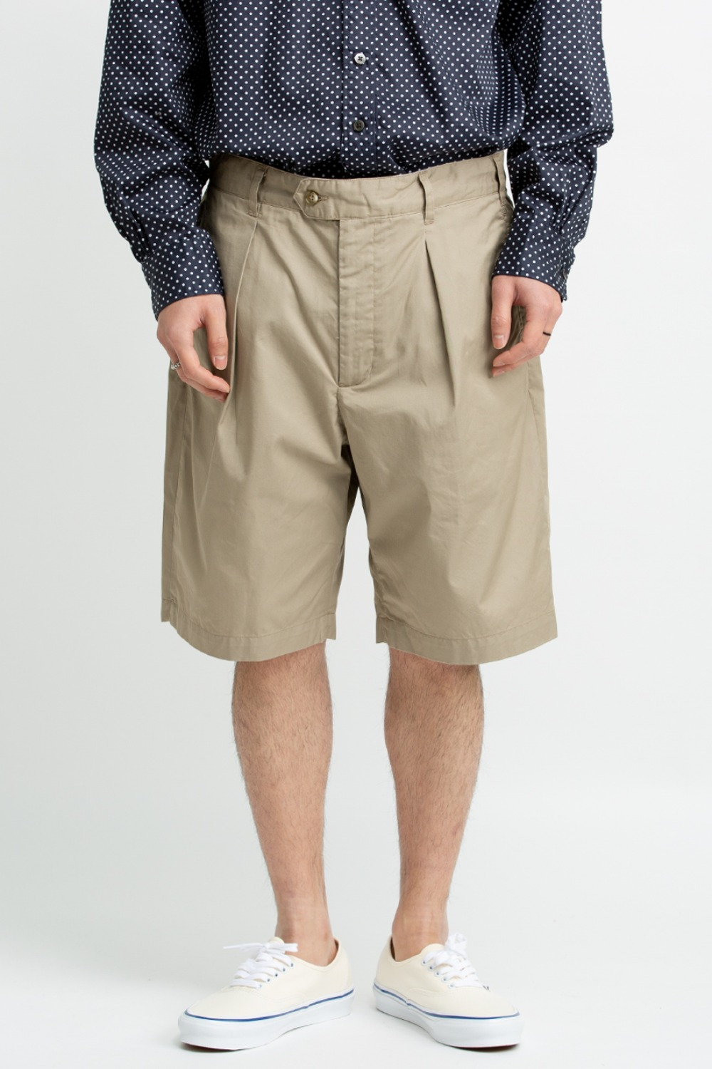 SUNSET SHORT HIGH COUNT TWILL KHAKI
