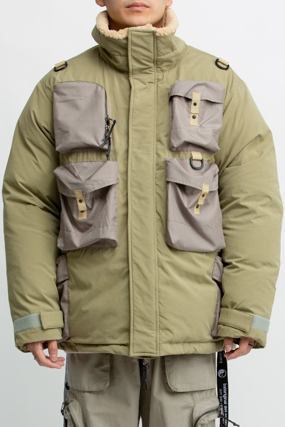 MULTI POCKET DOWN JACKET SAND