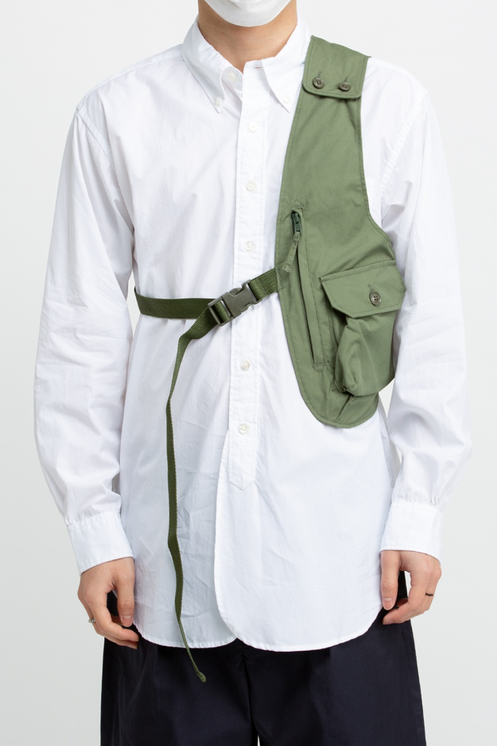 SHOULDER VEST PC POPLIN OLIVE