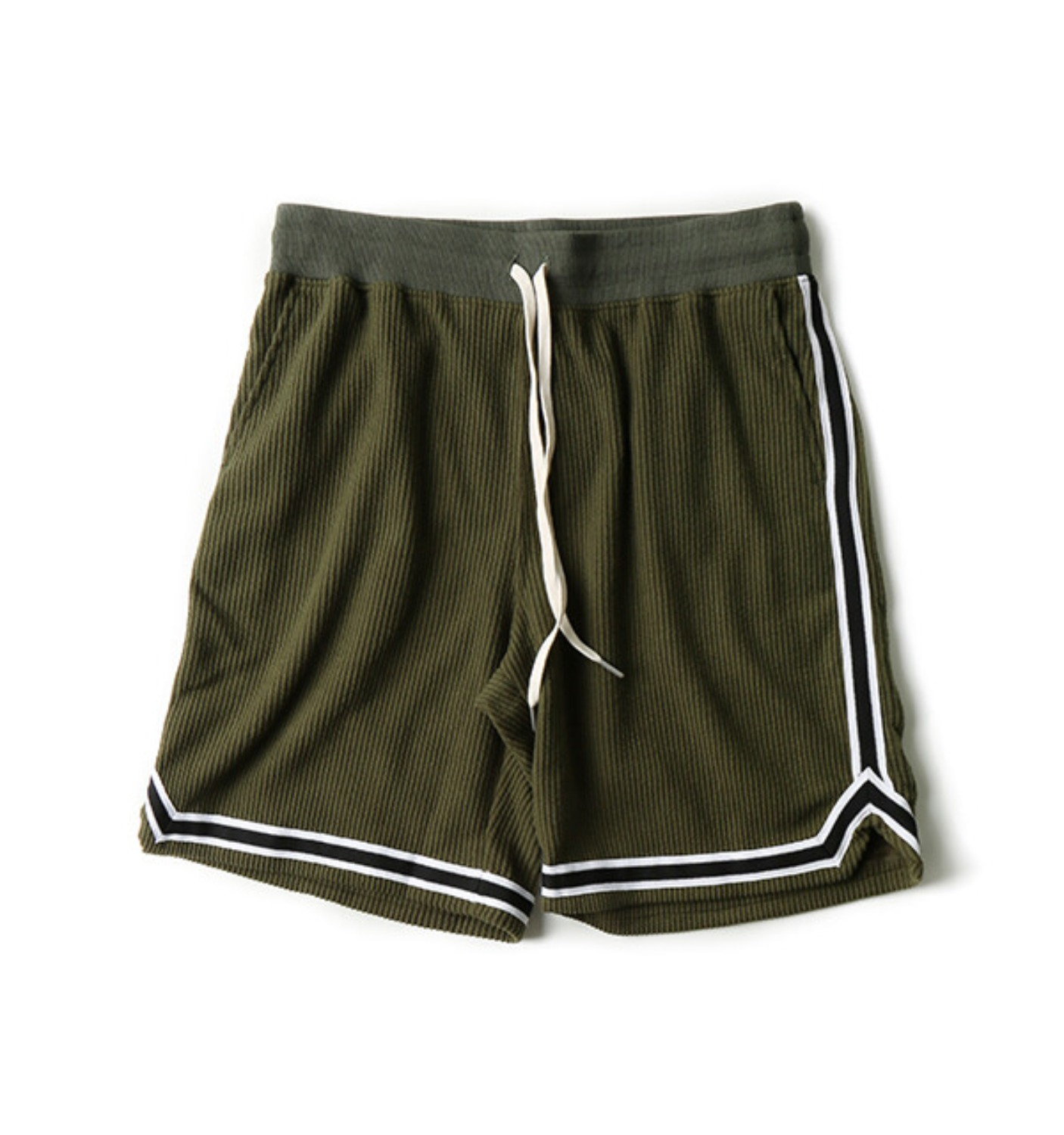 CORDUROY BASKETBALL SHORTS OLIVE