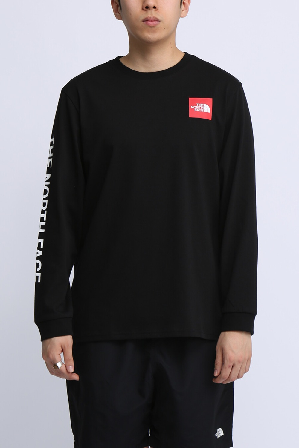TNF CORE L/S R/TEE BLACK (NT7TL70A)