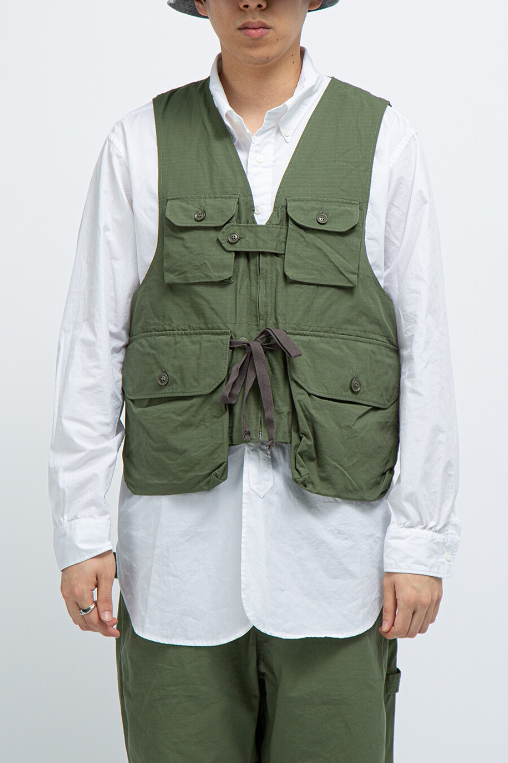 GAME VEST OLIVE COTTON RIPSTOP