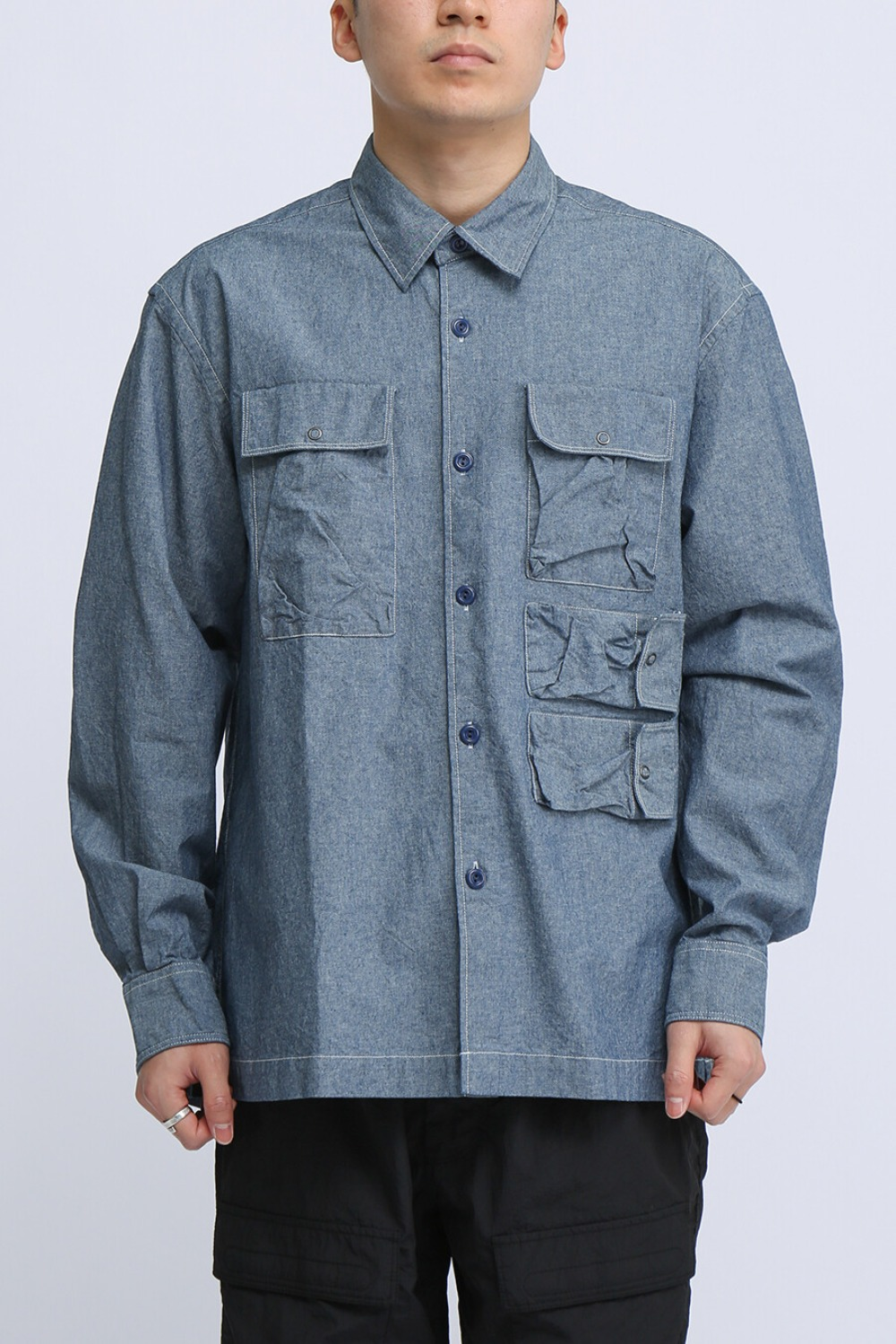 UTILITY FIELD SHIRT BLUE CHAMBRAY