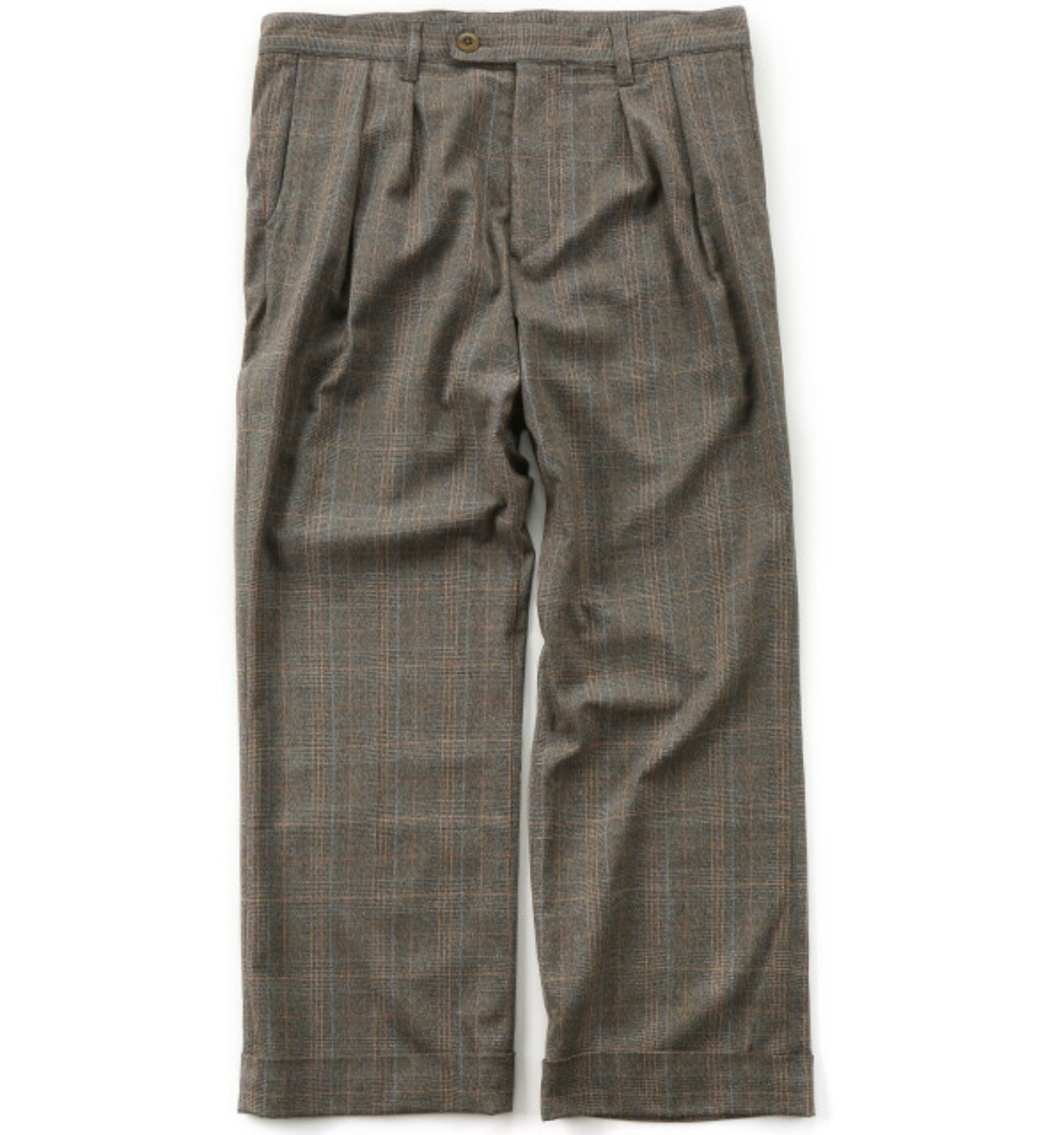 2 IN PLEAT WIDE PANTS PLAID