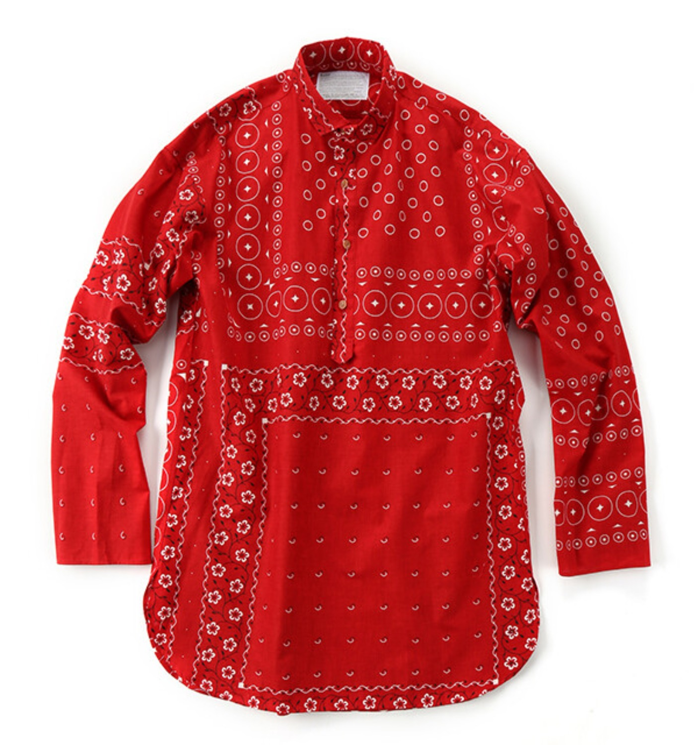 19WCM-B03114 LONG SLEEVE PULLOVER SHIRT RED