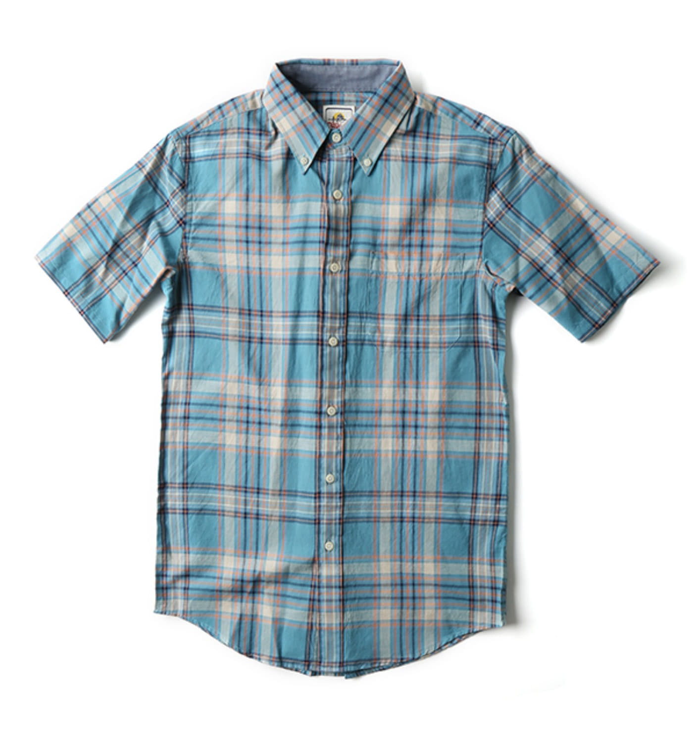 S/S Fitted Seaside BD Shirt Turquoise