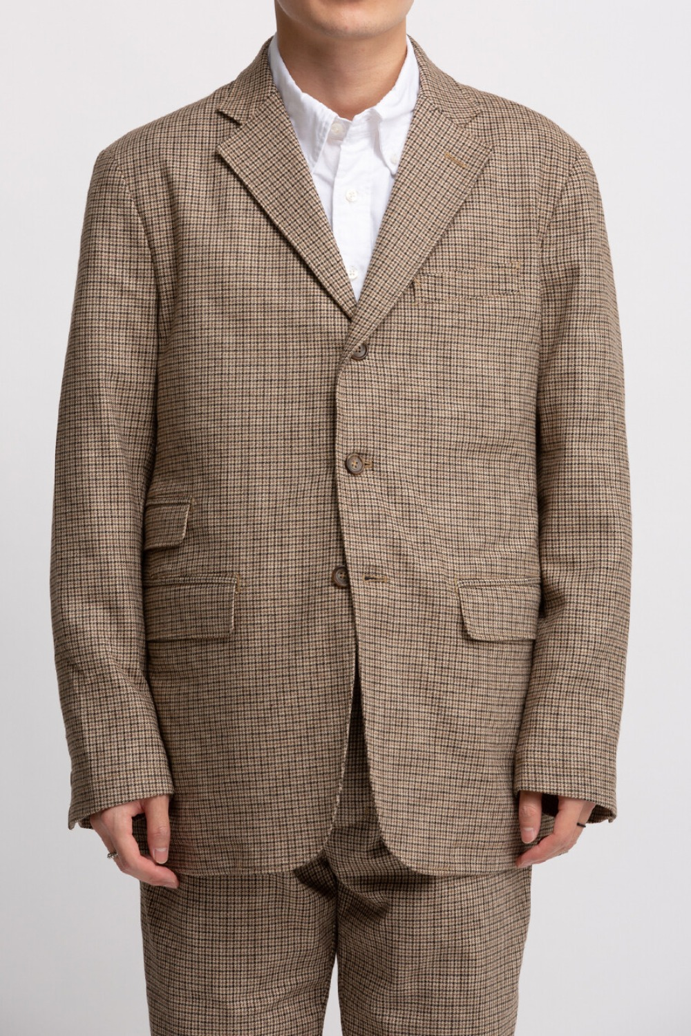 LAWRENCE JACKET BROWN WOOL POLY GUNCLUB