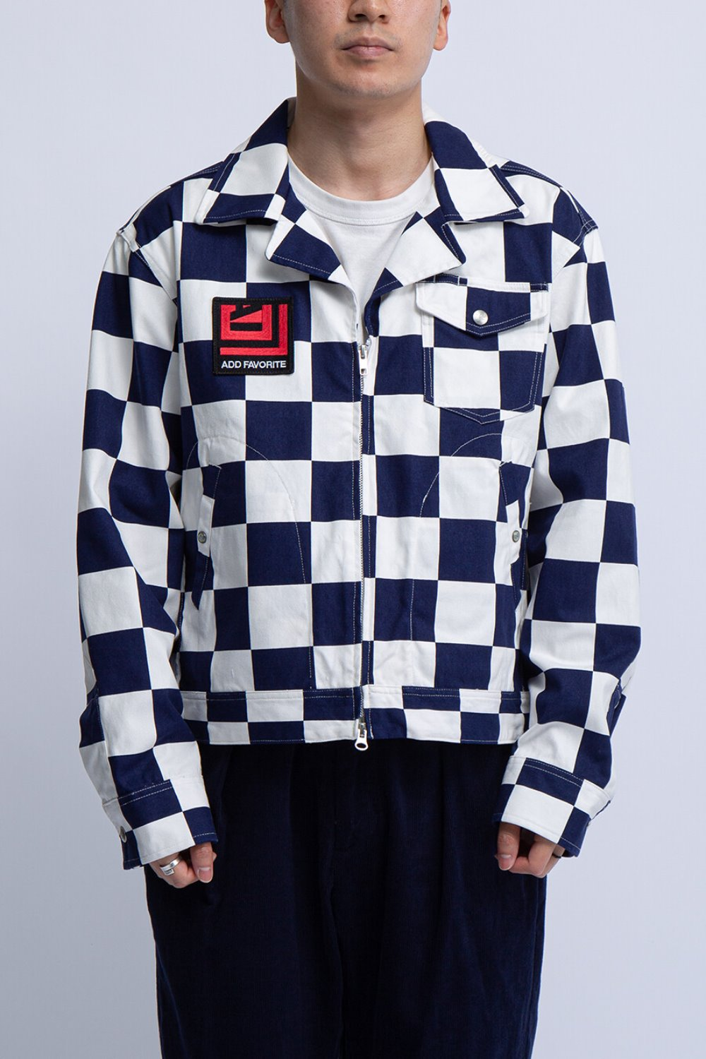 LTB JACKET NAVY WHITE 9oz CHECKER