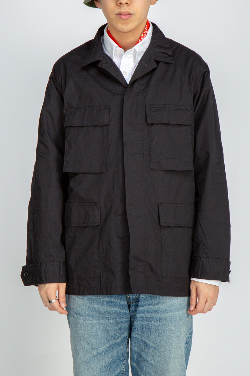 BDU JACKET HIGHCOUNT TWILL BLACK