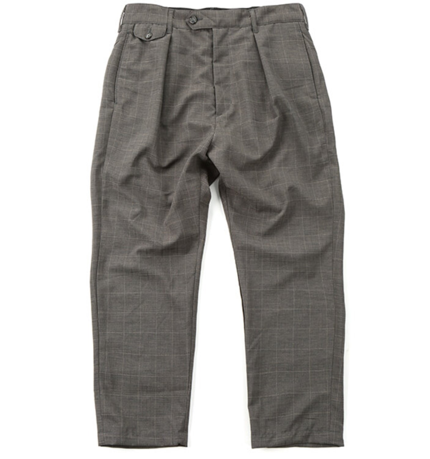 RLJ PANT GREY POLYESTER WINDOWPANE