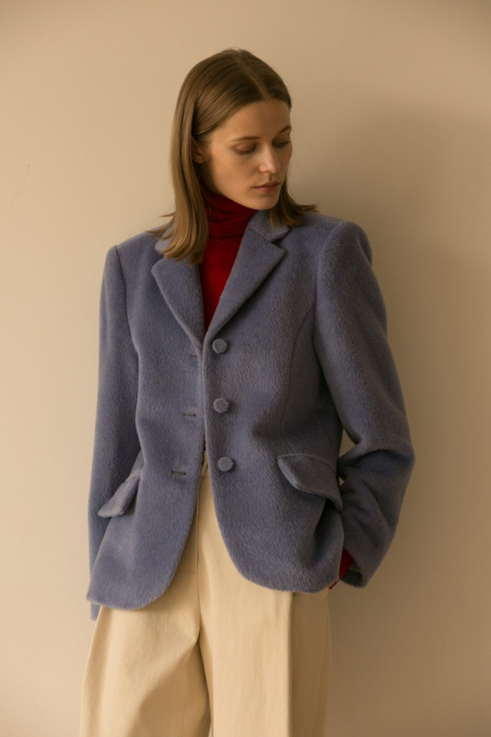 ROYAL BLAZER ALPACA BLUE