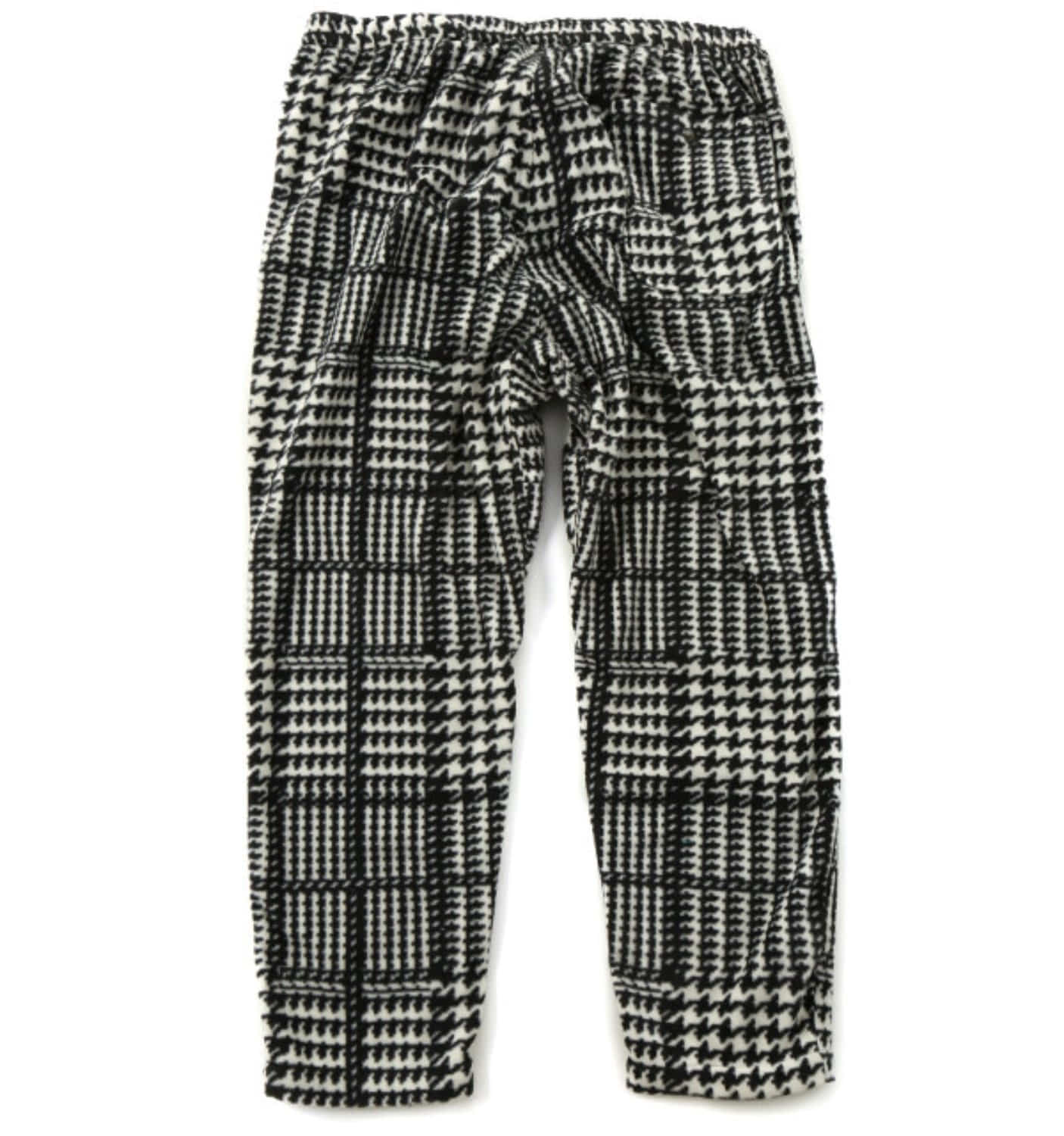 EZ PANT BLACK/WHITE POLYESTER HOUNDSTOOTH FLEECE