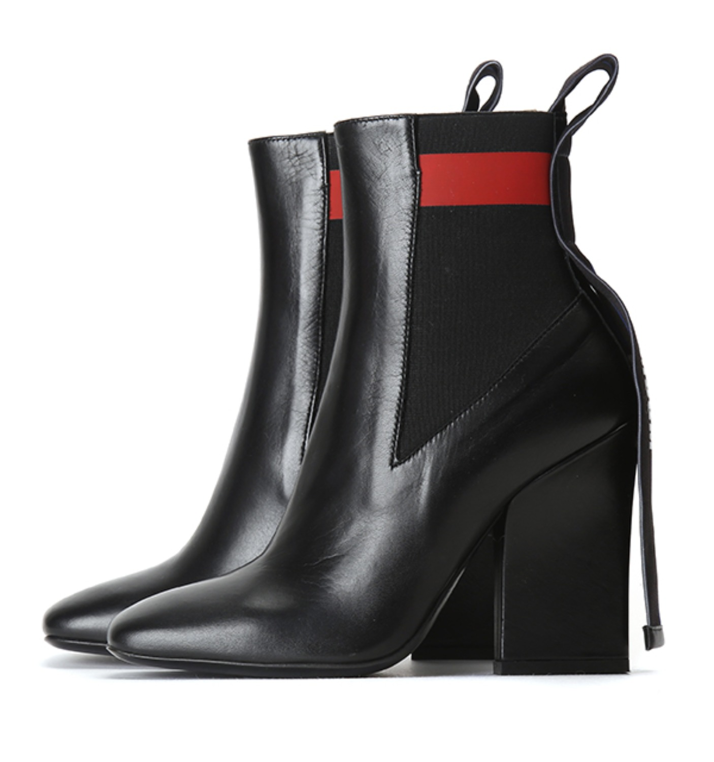 STRIPED BAND CHELSEA BOOT BLACK(2341MDS51)