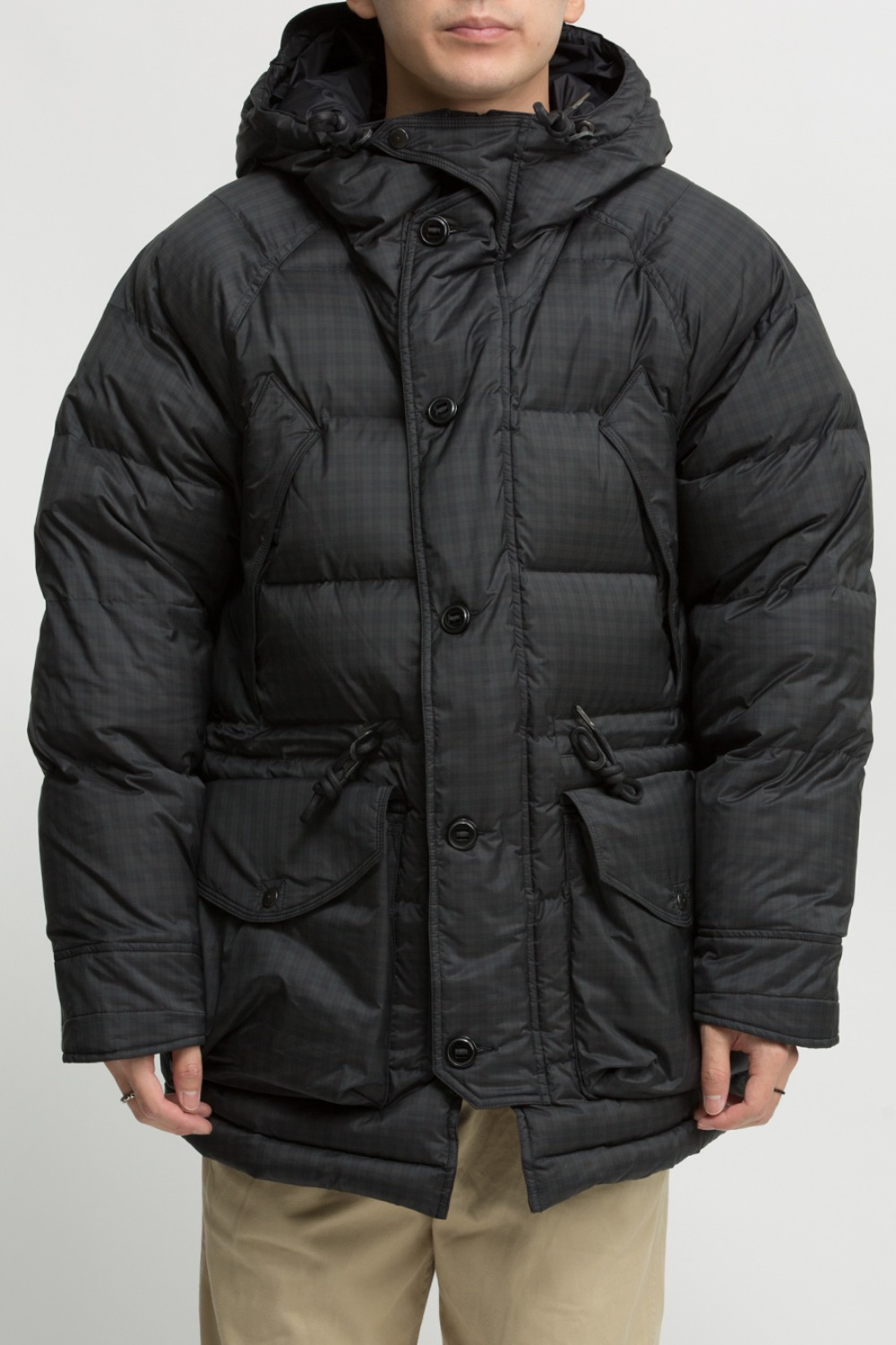 UTILITY SHIELD PARKA BLACK/GREEN CHECK
