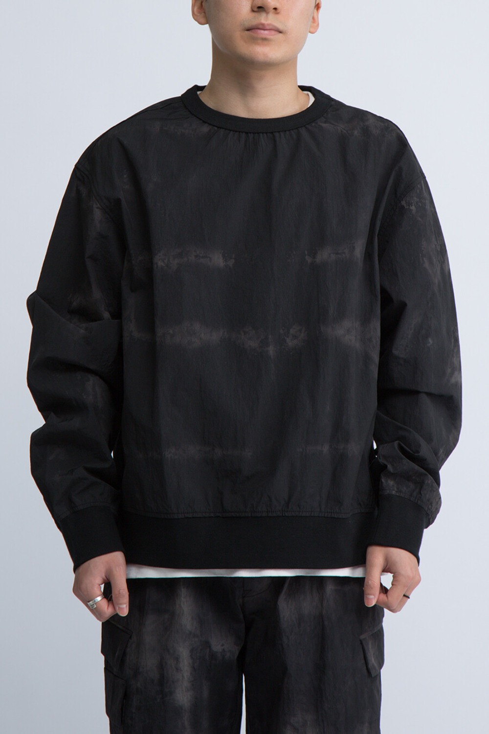 FOR SCULP X OVERSIZED SWEAT BLACK STORM