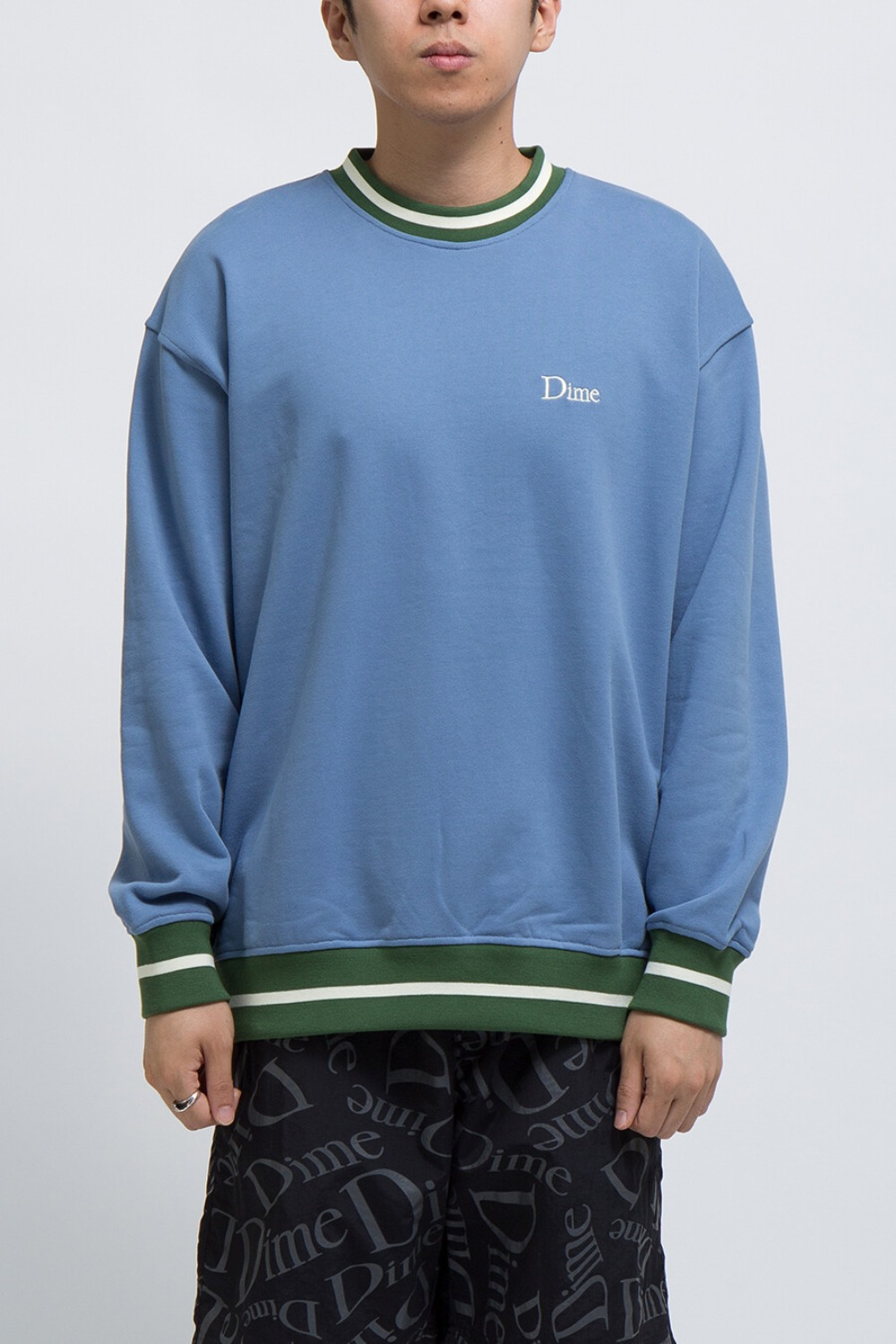 DIME CLASSIC FRENCH TERRY CREWNECK BLUE