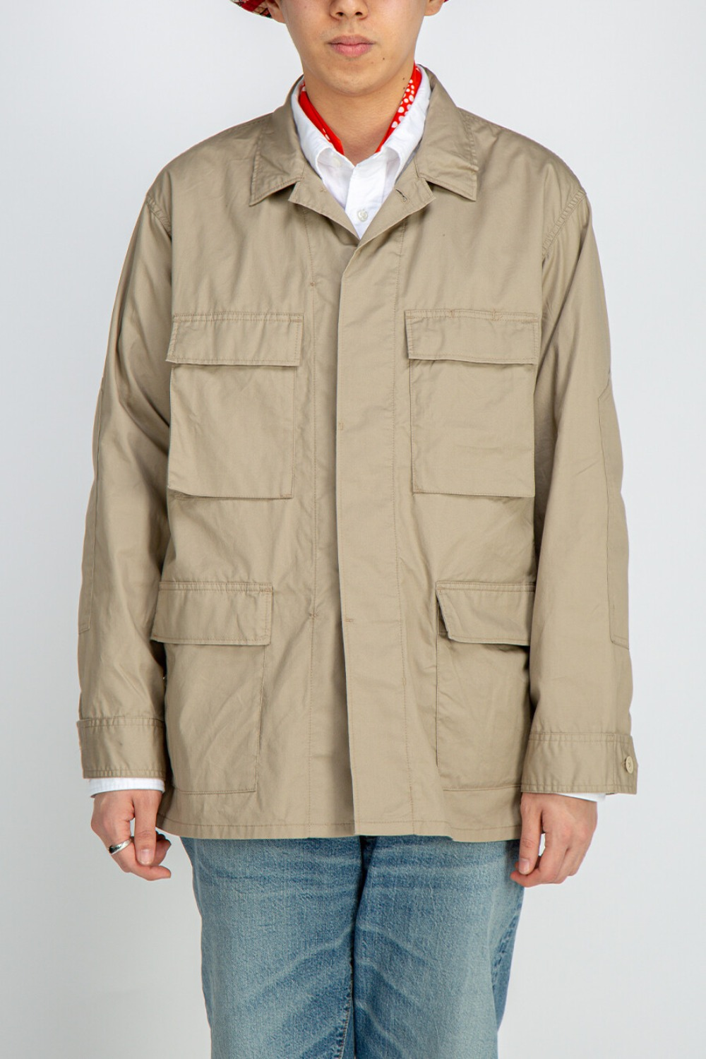BDU JACKET HIGHCOUNT TWILL KHAKI