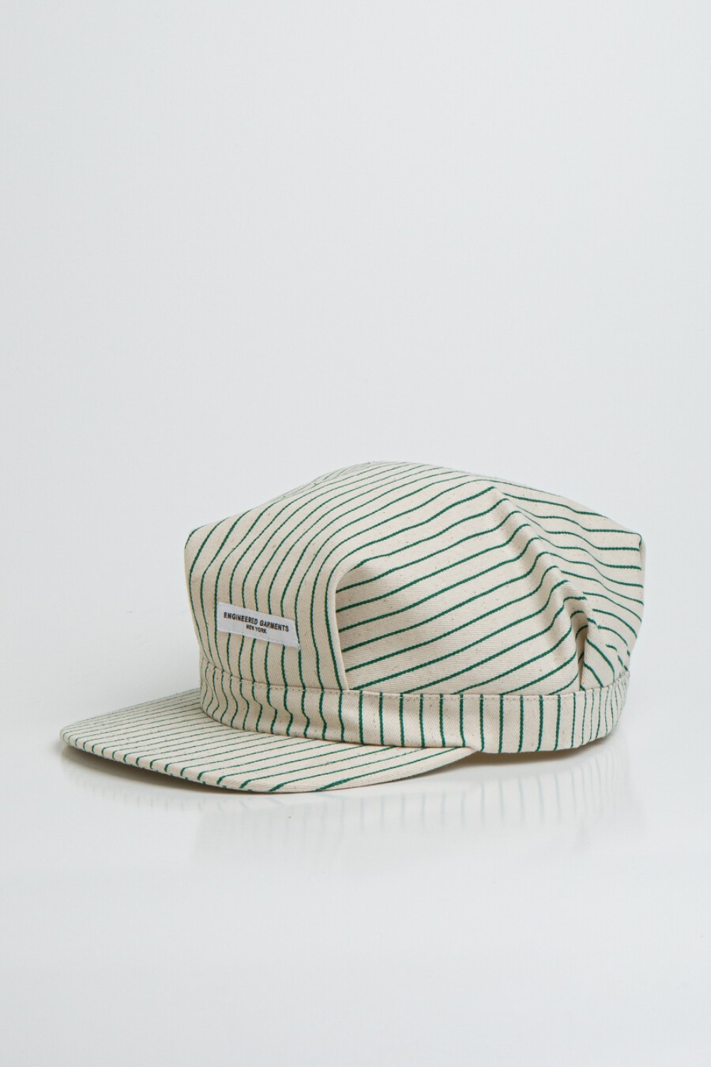 RAILROAD CAP NATURAL GREEN UNIFORM STRIPE