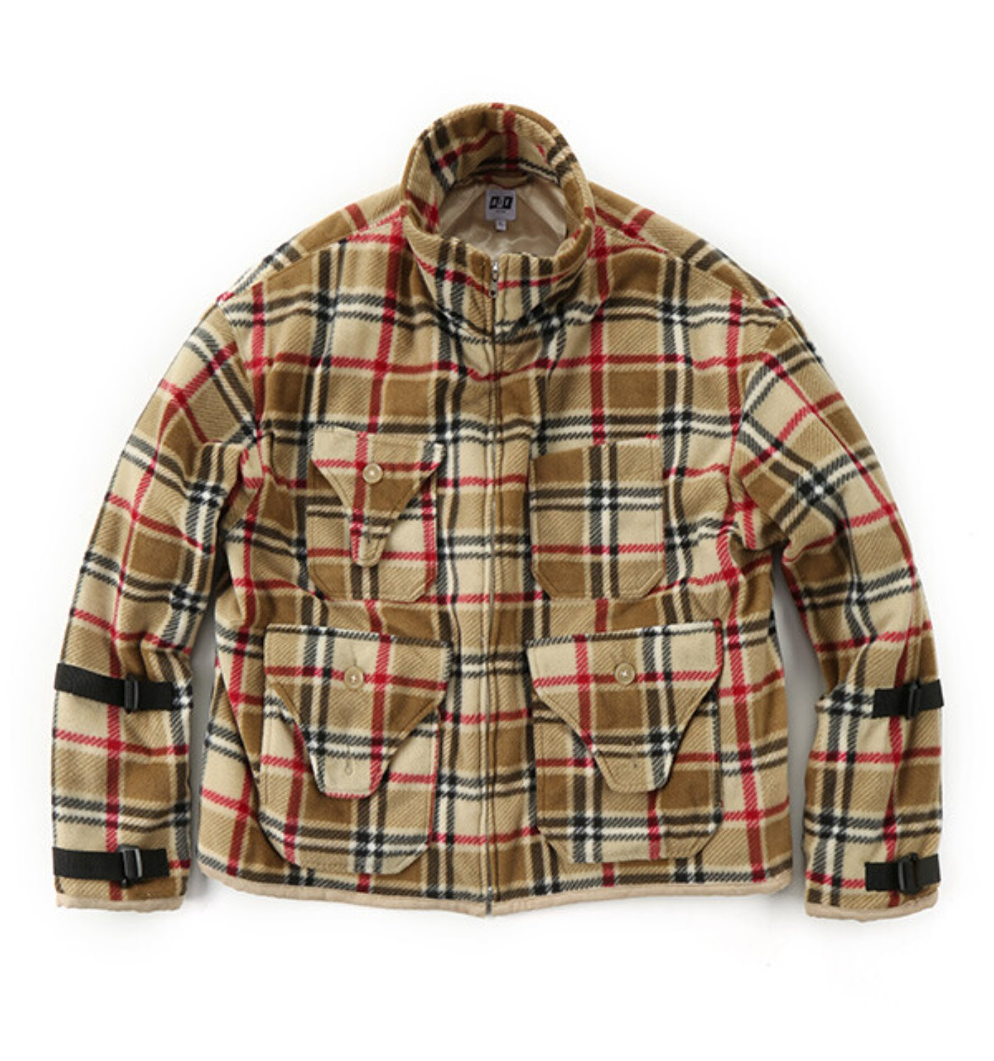 DOC JACKET CAMEL POLYESTER PLAID FLEECE