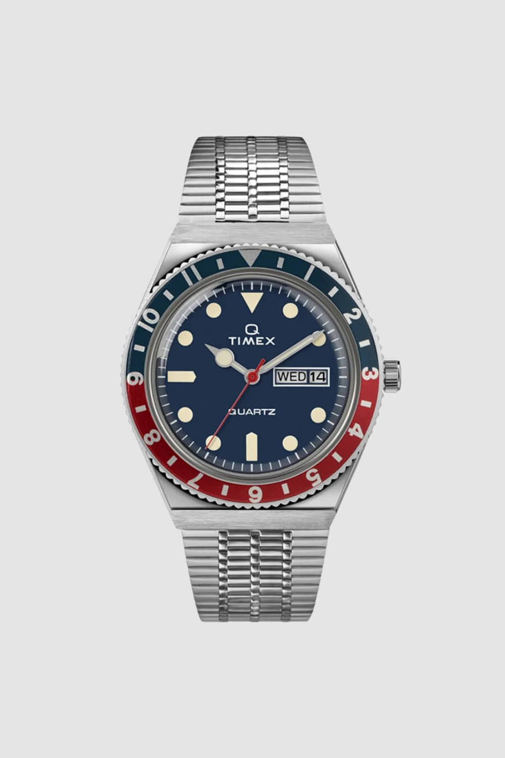 (RESTOCK)Q TIMEX 38MM RED/BLUE