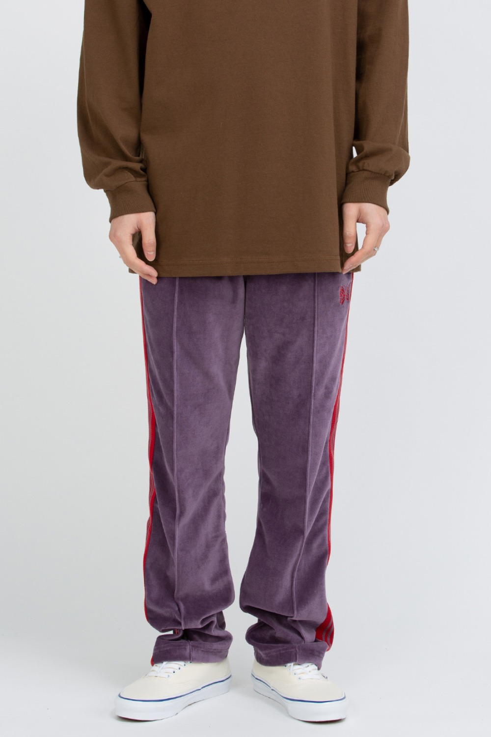 NARROW TRACK PANT - C/PE VELOUR PURPLE