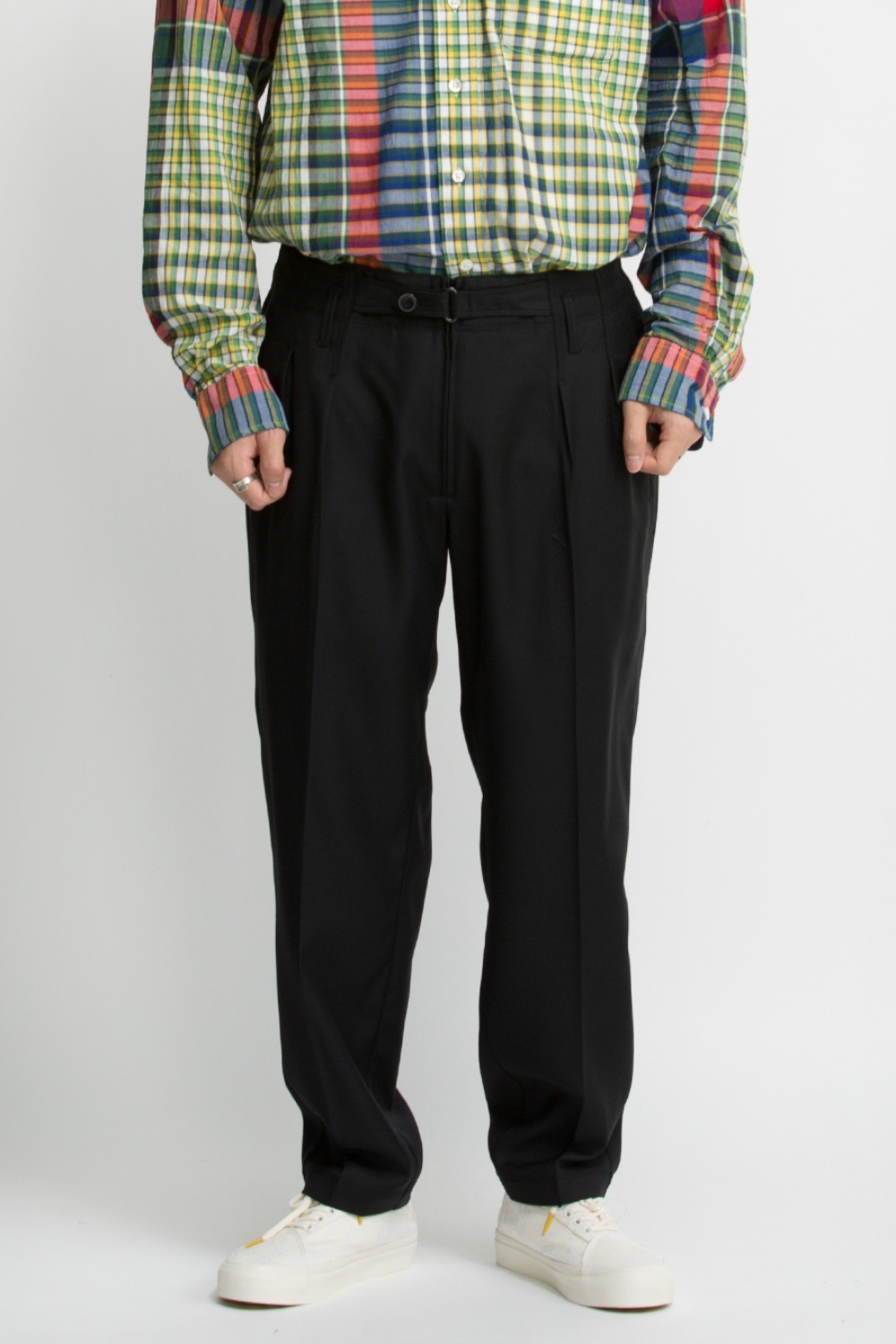 EXPLORER PANTS / BLACK WOOL