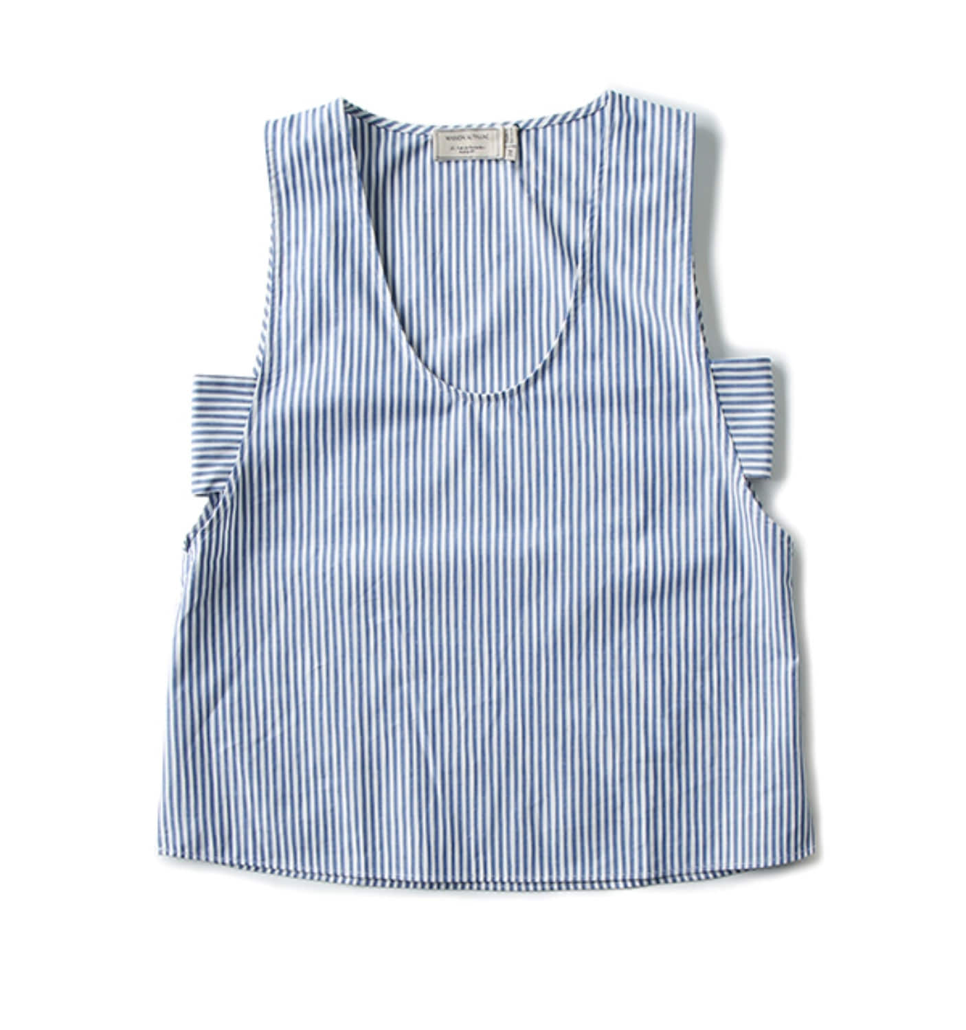 JUNE SIDE STRAP TOP BLUE STRIPE(SS17W014)