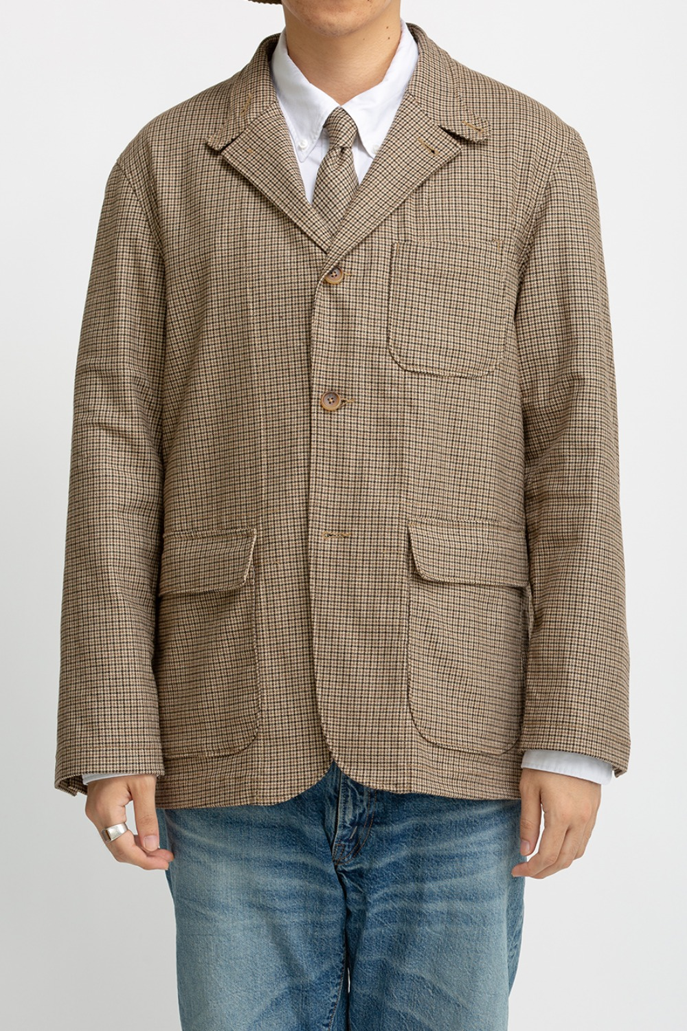 LOITER JACKET BROWN WOOL POLY GUNCLUB