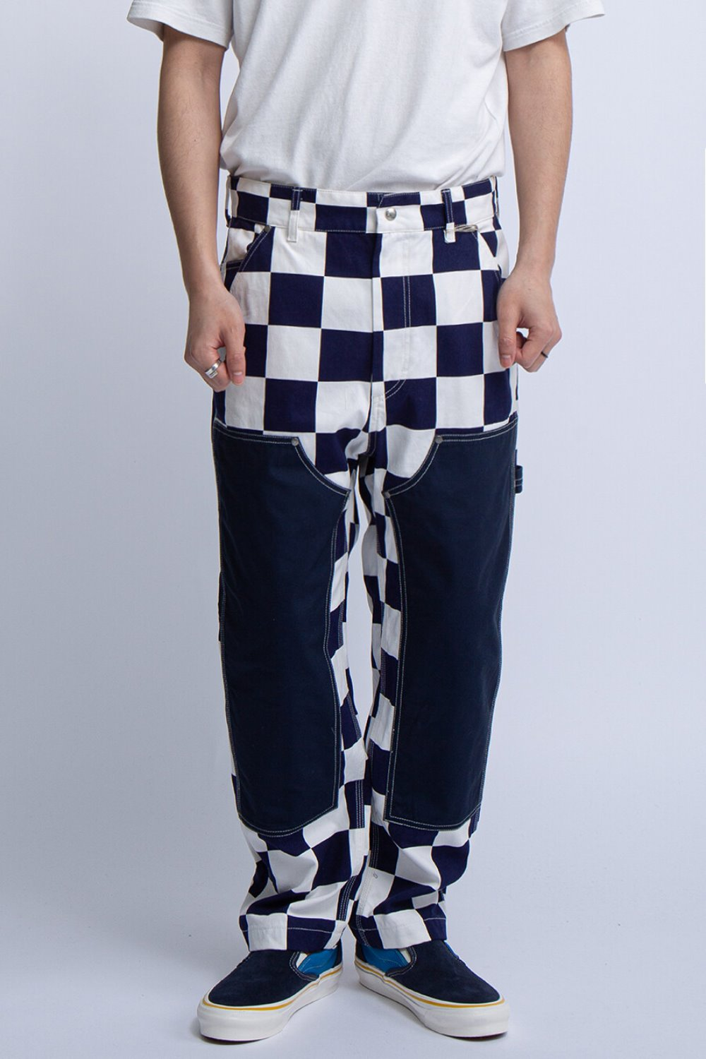 PT PANT NAVY WHITE 9oz CHECKER