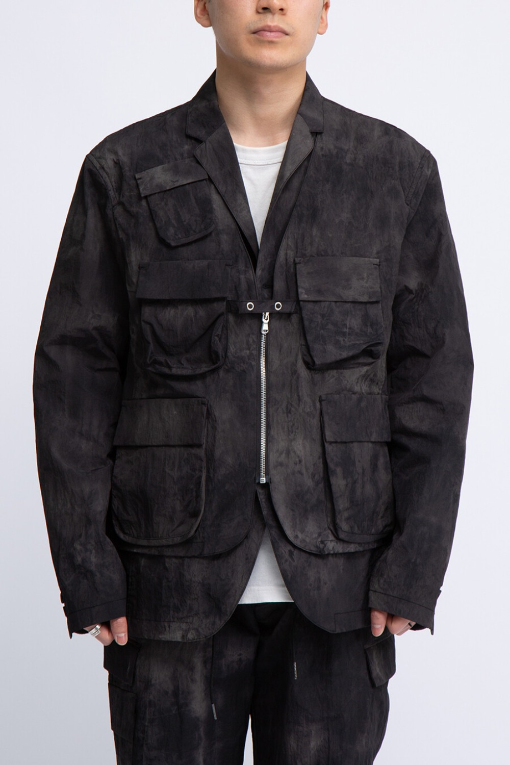 FOR SCULP X LAYERED JACKET BLACK STORM