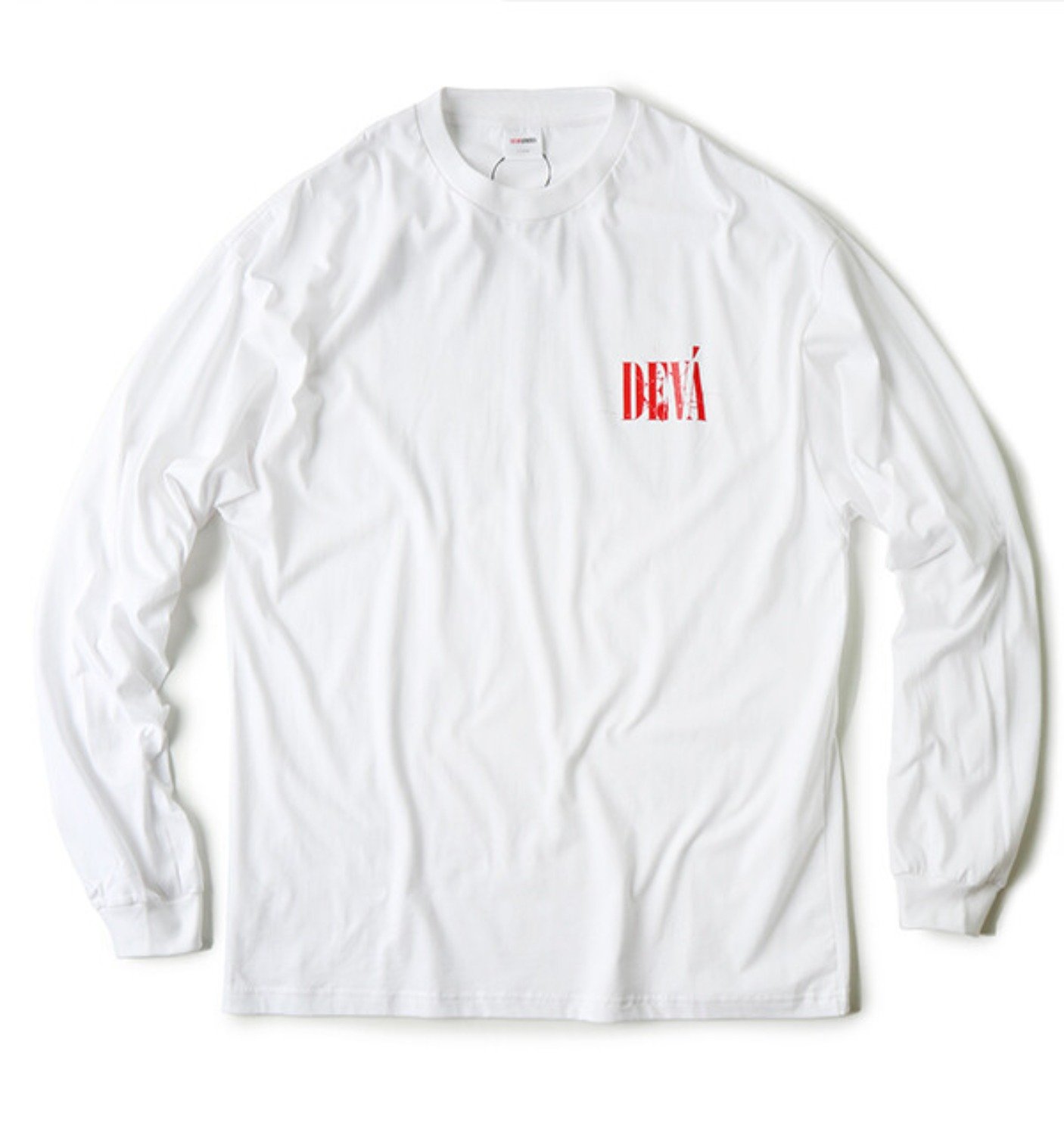 CRACKED L/S T-SHIRT WHITE