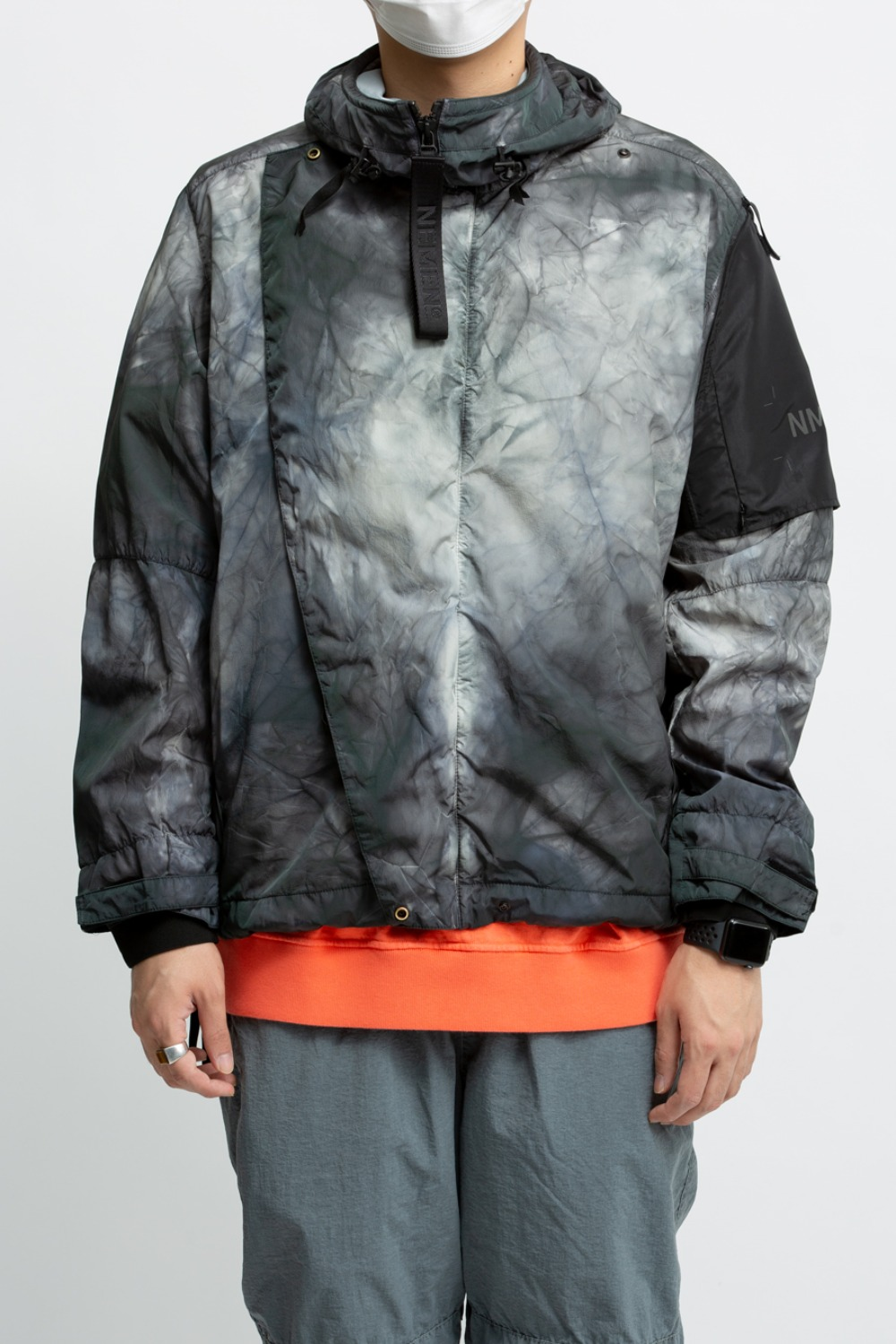 WOVEN DOES 3L TIE DYE JACKET ICE GREY