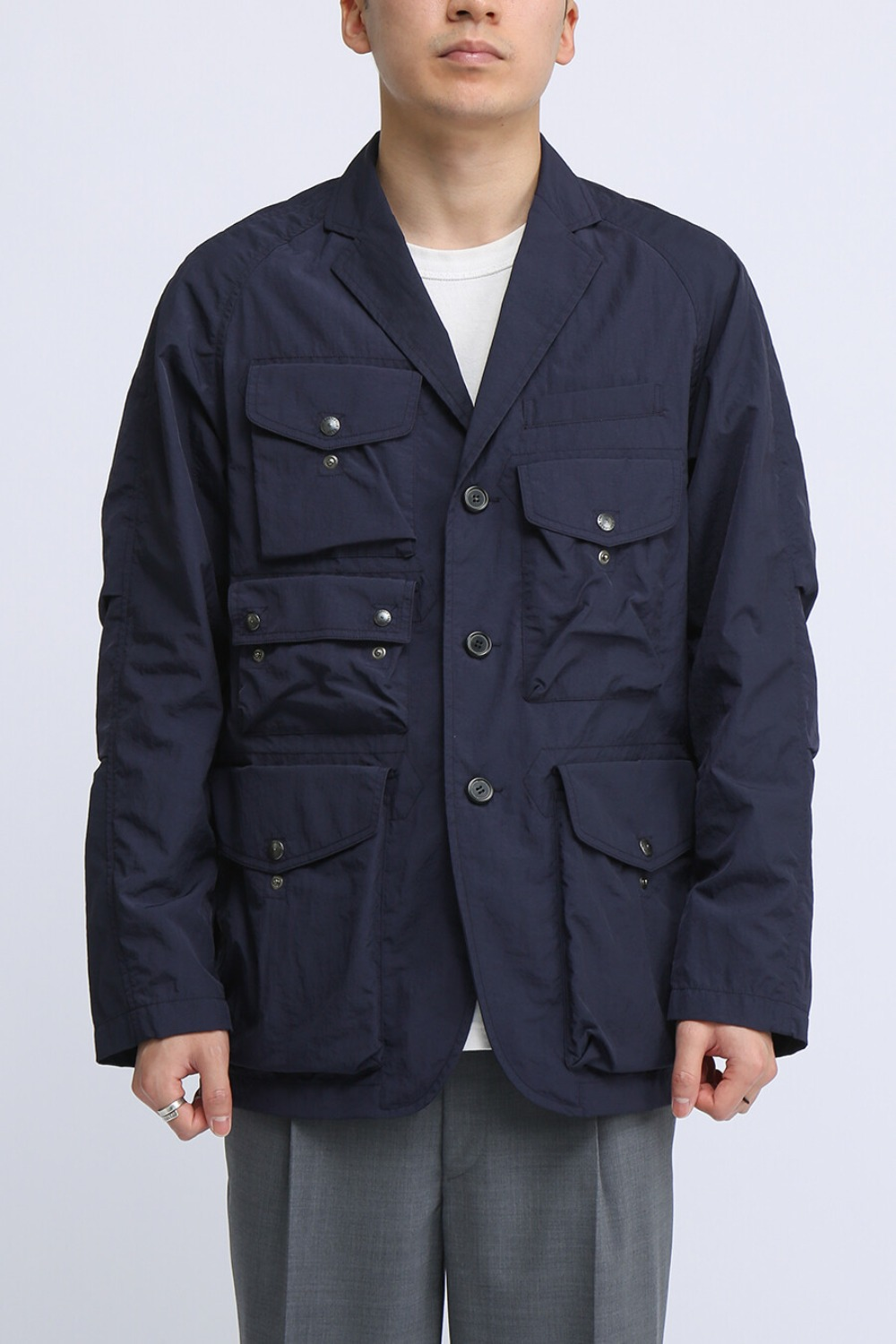 TREKKING JACKET NAVY NYLON WASHER