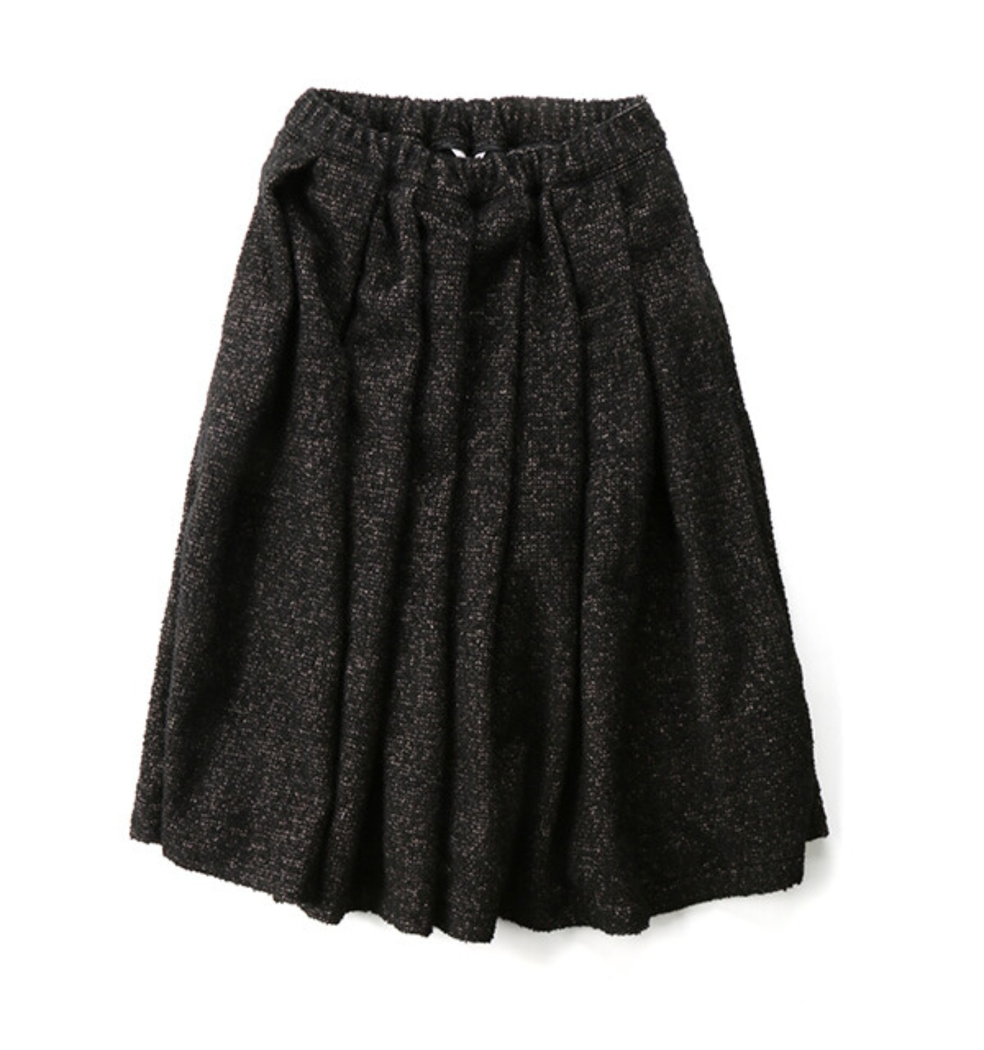 LAYLA A-LINE SKIRT BLACK TWEED (MDS07SK01)
