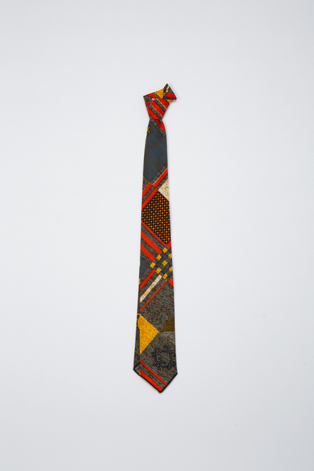 NECK TIE BLACK GOLD COTTON AFRICAN PRINT
