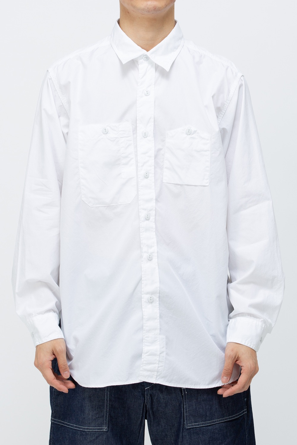 WORK SHIRT 100's 2PLY BROADCLOTH WHITE