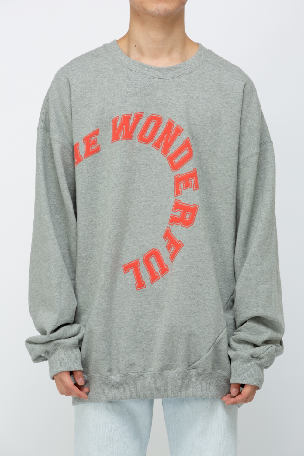 TWIST COLLEGE SWEAT GRAY-WONDERFUL