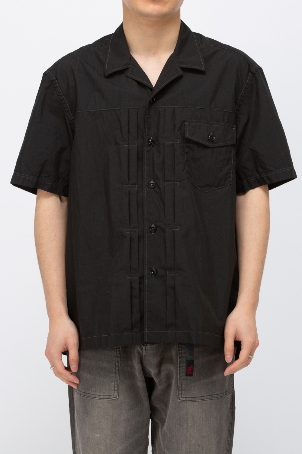 TRUCKER HALF SHIRT BLACK