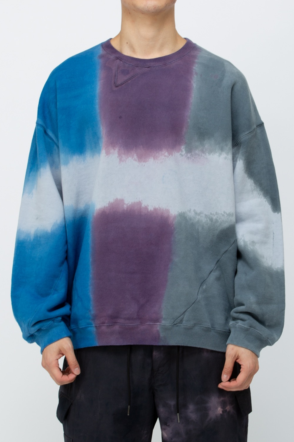 TWIST 3DYE SWEAT-NATURE BLUE/PURPLE