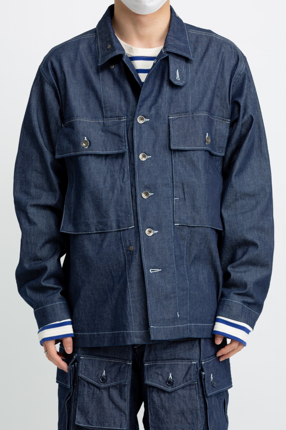 M43/2 SHIRT JACKET INDIGO 8OZ CONE DENIM