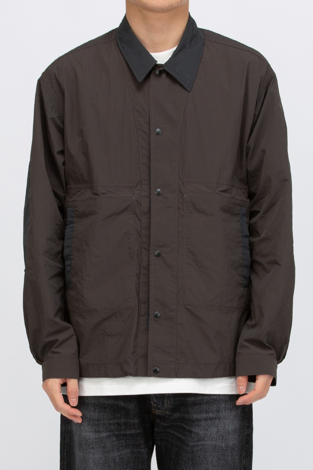 REVERSIBLE NYLON JACKET CHARCOAL